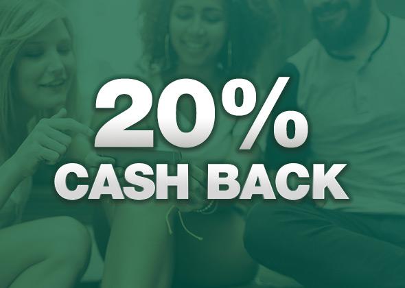20% Cash Back Day