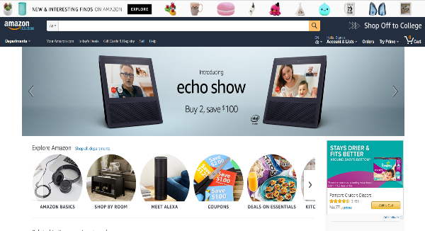 Amazon Homepage Image