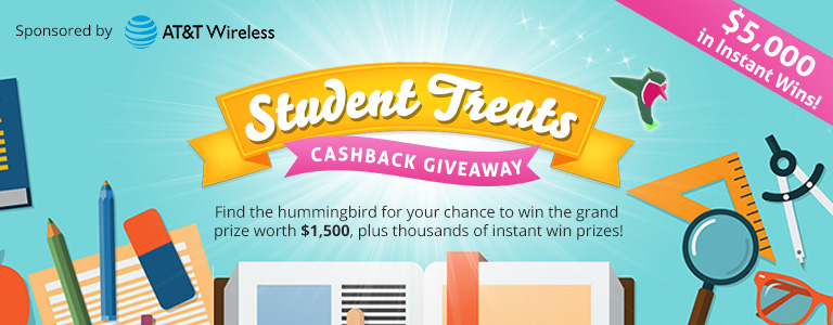 Find the hummingbird for your chance to win cash and
