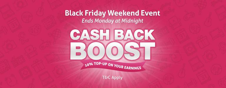 Cash Boost All Weekend Long