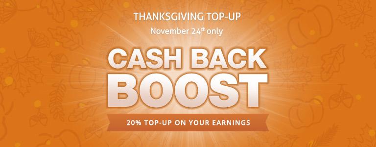 Thanksgiving 20% Boost