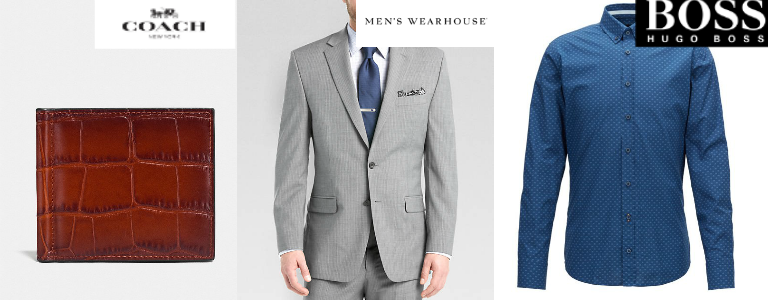Coach, Hugo Boss, Men's Wearhouse