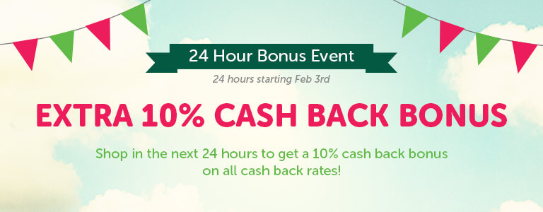 10 percent top up on cash back rates