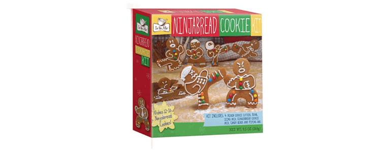 gingerbread house no more, instead make ninja cookies