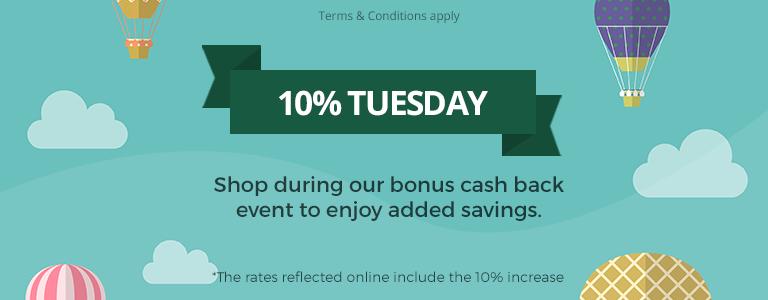 Bonus Cash Back Day is Here