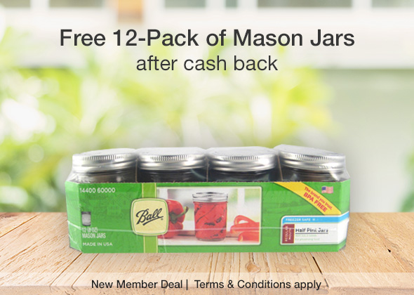 Free 12ct Ball Mason Jars