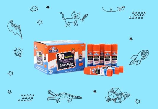 Free 30-Pack Elmer's Glue Sticks