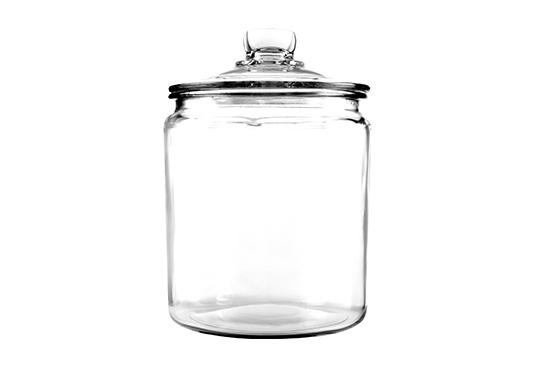 Large Glass Storage Jar Freebie
