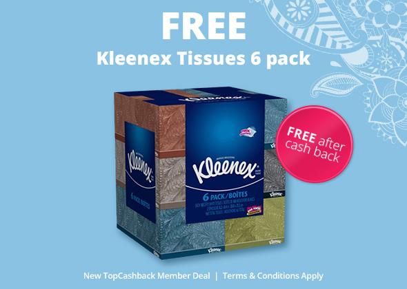 6 Pack Kleenex Freebie