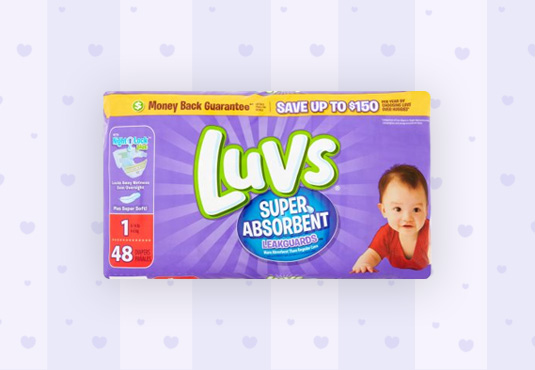 Free Luvs Diapers at Walgreens