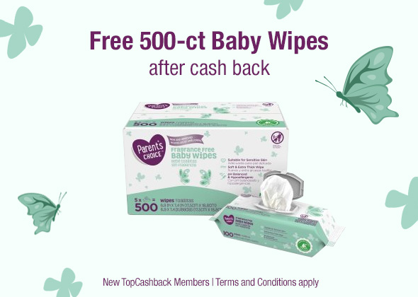 500-Count Baby Wipes Freebie