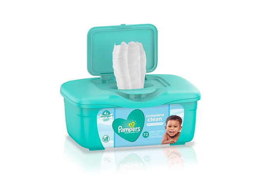 2 Tubs of Pampers Baby Wipes Freebie