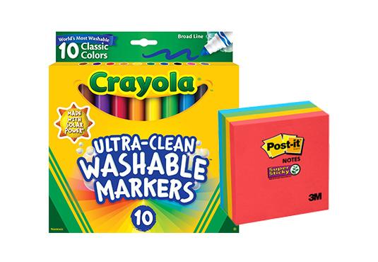 $10 off School/Office Supplies at Walmart