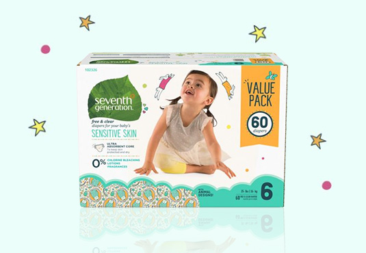Seventh Generation Baby Diapers Freebie