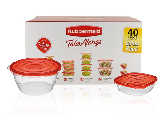 Rubbermaid Food Containers Set Freebie