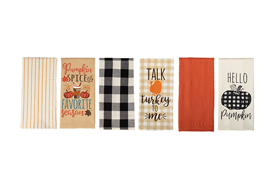 6-Piece Set of Fall Dish Towels Freebie