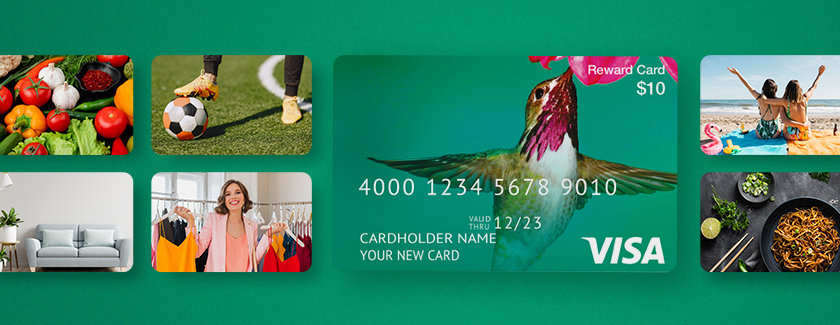 7% Payout Bonus on Visa® Prepaid Cards