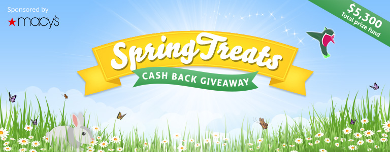 Spring Treats Cash Back Giveaway