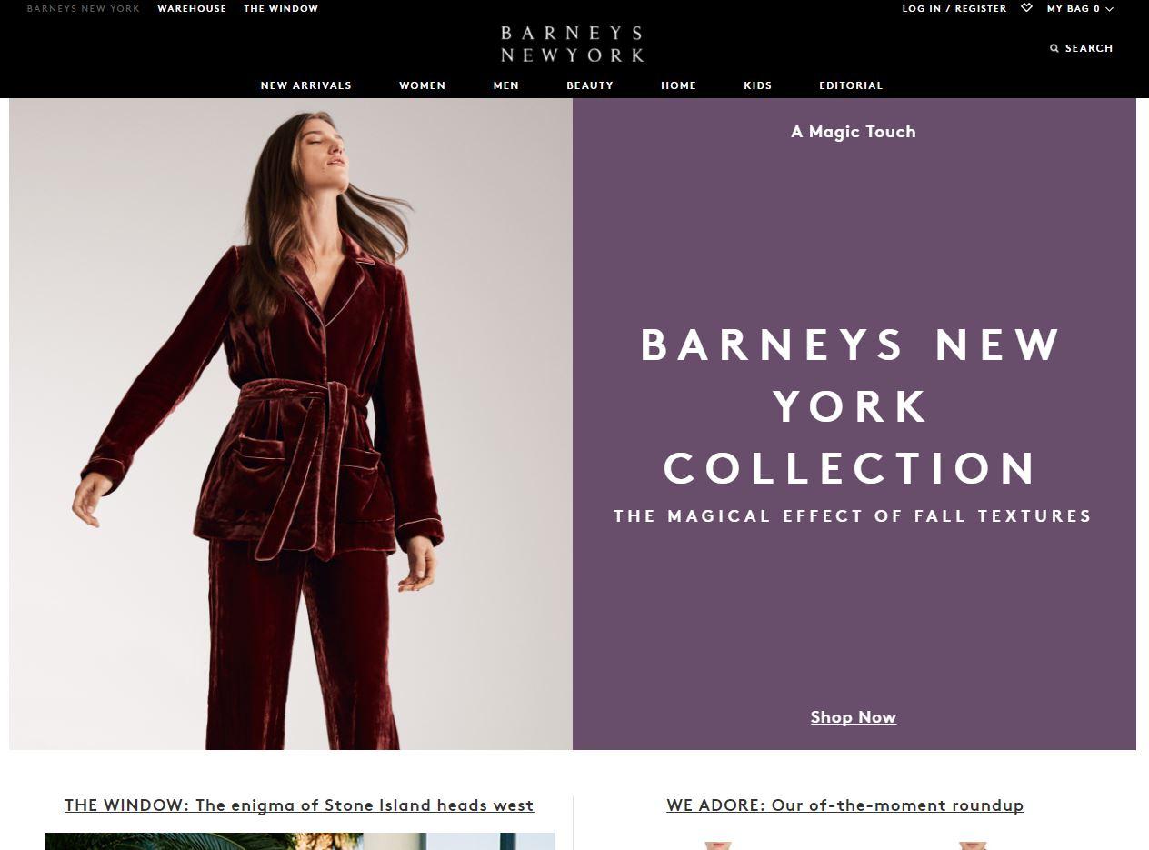 Barneys 官网