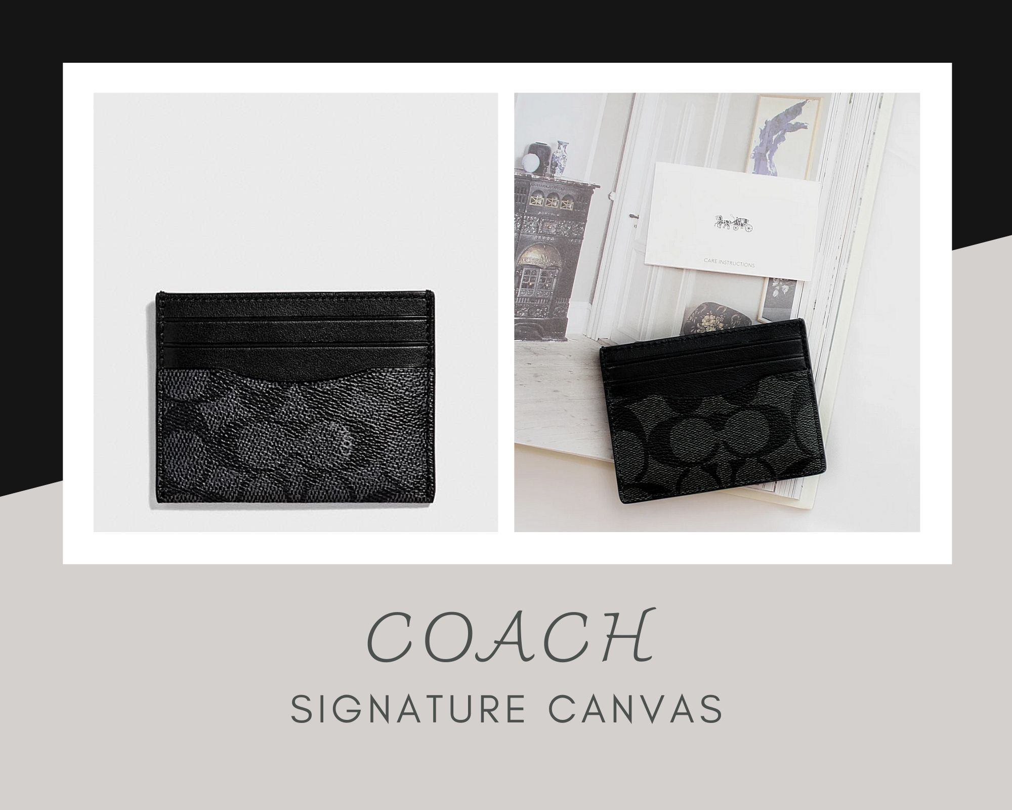 Coach老花男士黑色卡包