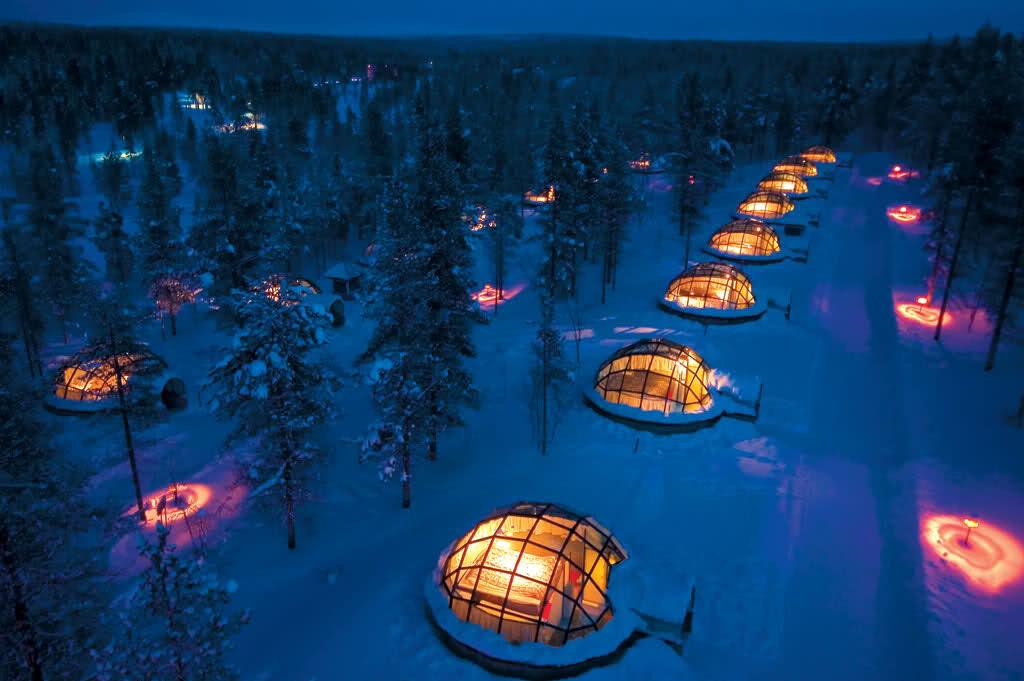 芬兰极光玻璃屋