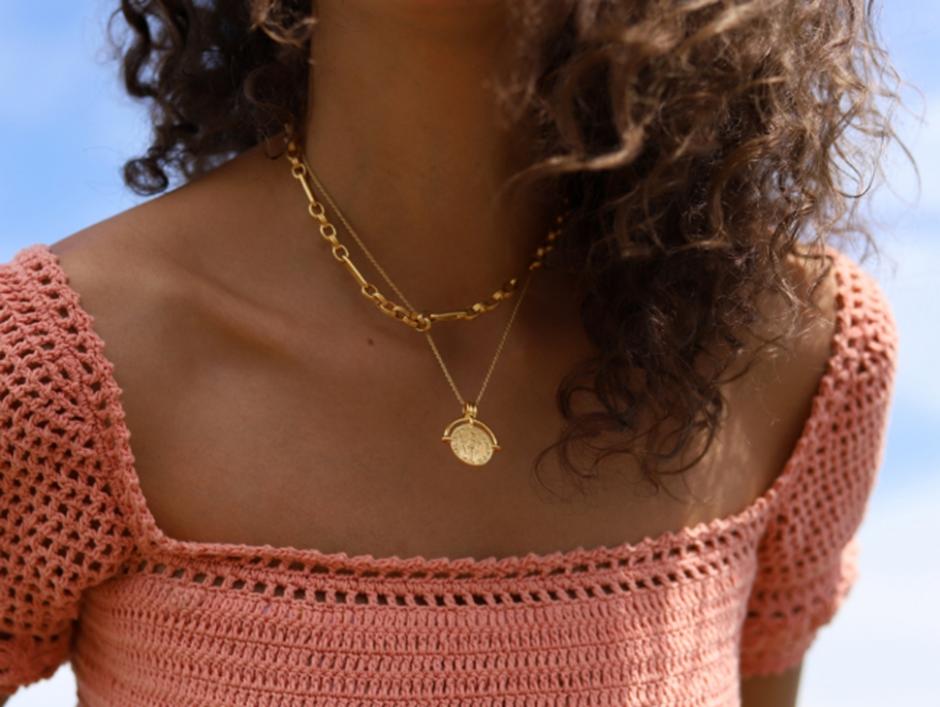 Missoma复古风罗马硬币项链