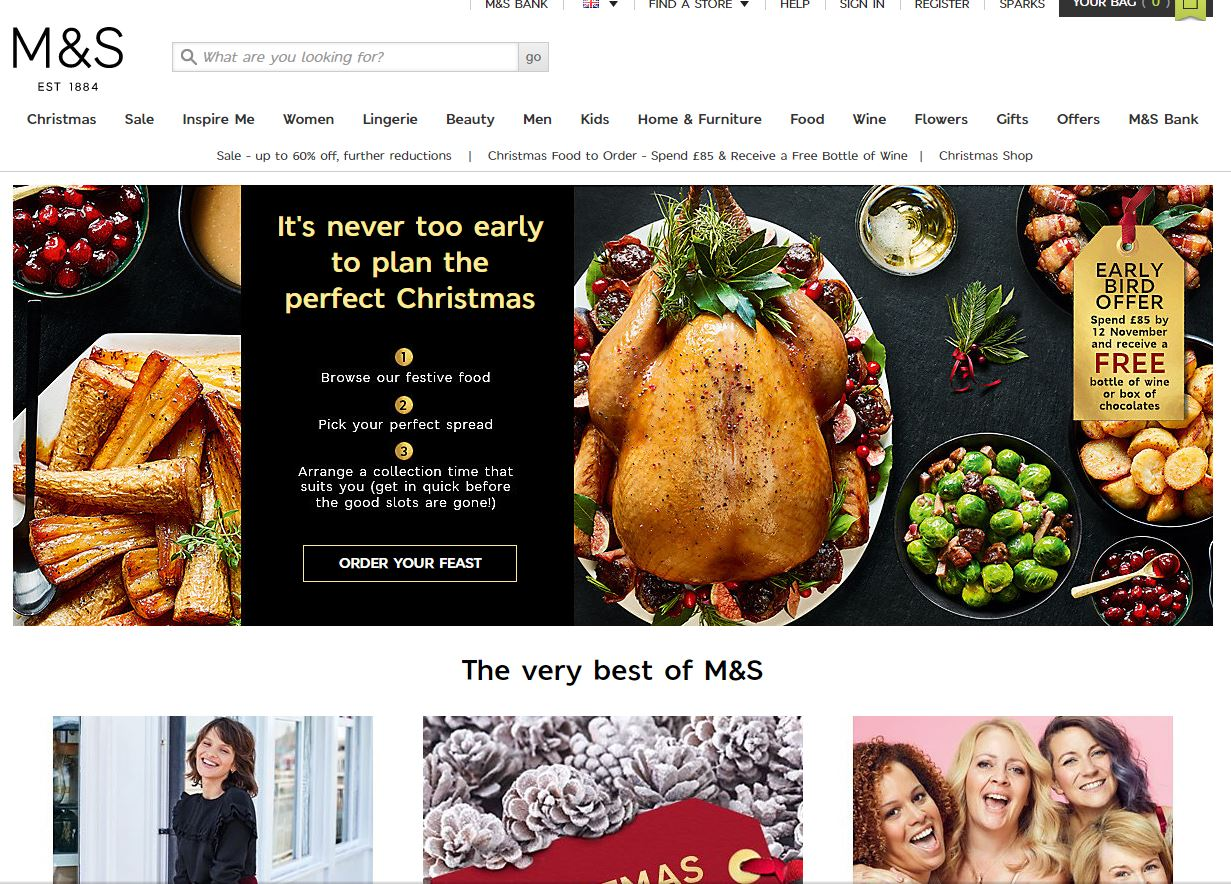 Marks and Spencer 官网