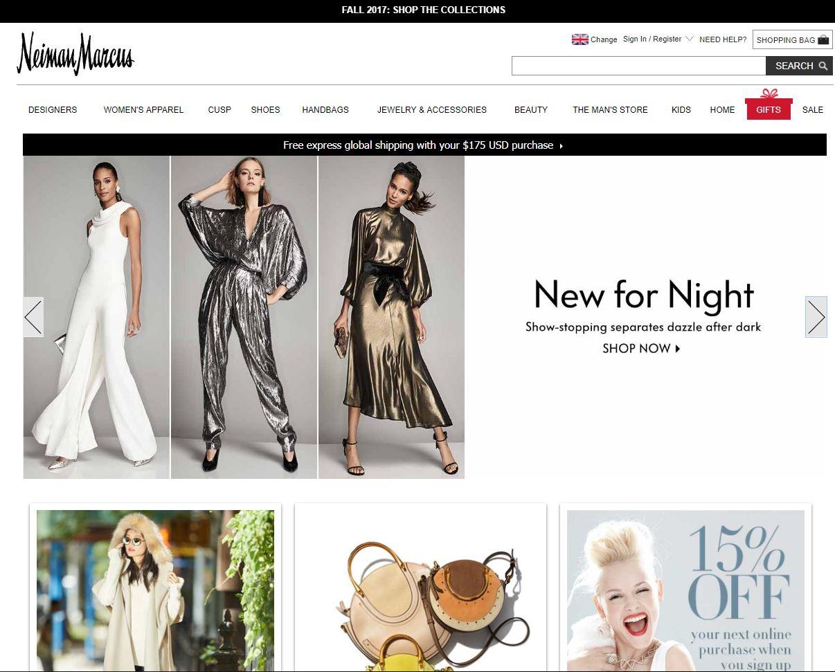 Neiman Marcus 官网