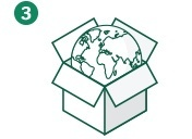 在结账时,使用转运公司为您提供的境外收货地址信息完成您的购物。