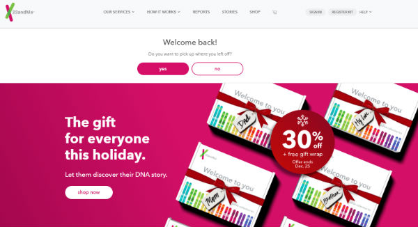 23andMe Coupons, Cashback & Discount Codes - TopCashback