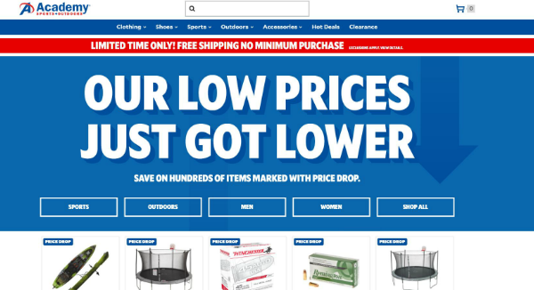 Academy Sports Outdoors Homepage Image