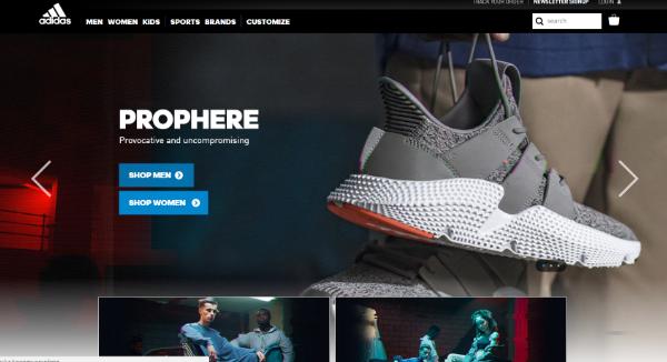 adidas Homepage Image