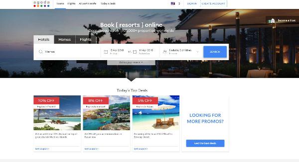 Agoda Homepage Image
