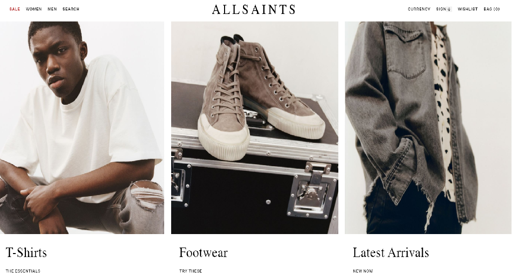 AllSaints Homepage Image