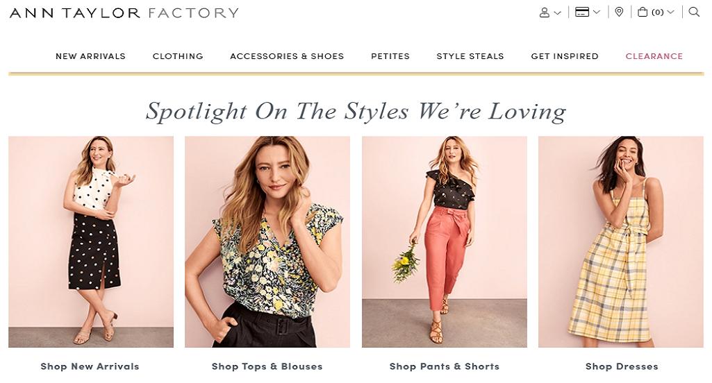 Ann Taylor Factor Homepage