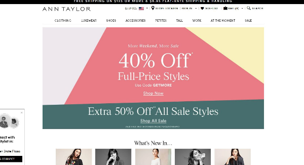 Ann Taylor  Homepage Image