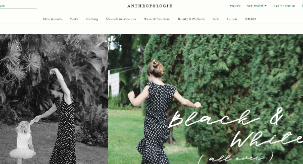 Anthropologie  Homepage Image