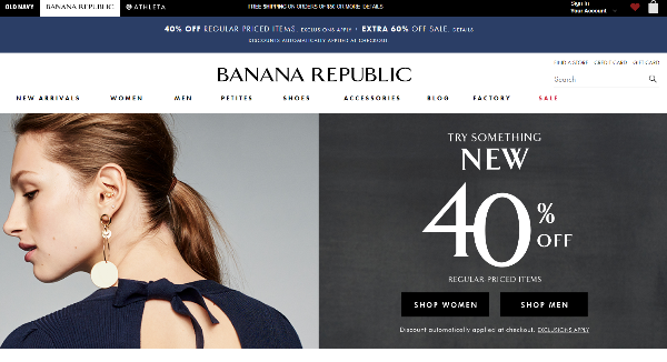 Banana Republic Homepage Image