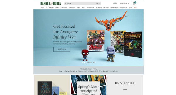 Barnes and Noble Homepage Image