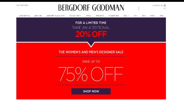 Bergdorf Goodman Homepage Image