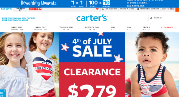 Carter S Coupons Cashback Discount Codes Topcashback