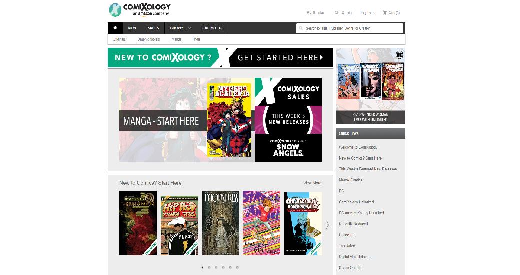 ComiXology Homepage