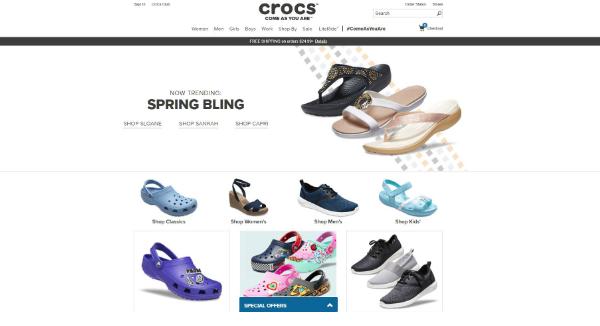 Crocs Homepage Image