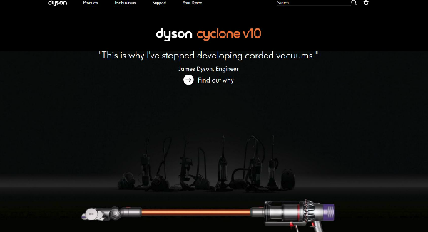 Dyson Homepage Image