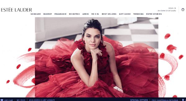 Estee Lauder Homepage Image