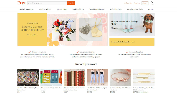Etsy Homepage Image