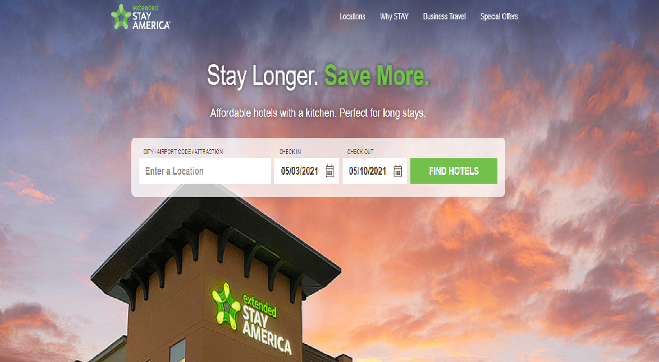 Extended Stay America Homepage