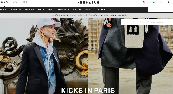 Farfetch  Homepage Image