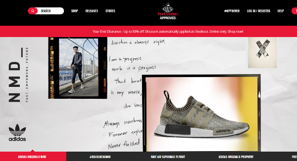 Foot Locker Homepage Image