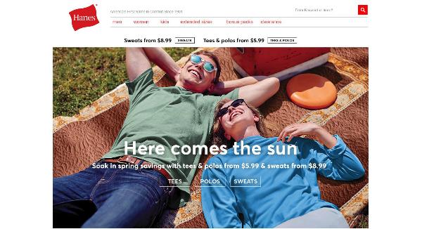 Hanes Homepage Image